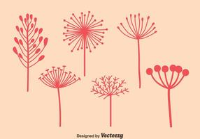 Pink Dandelions Vectors