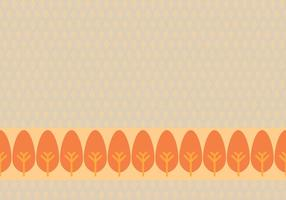 Orange Leafy Background Daun Vector
