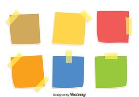 Colorful Stiky notes Vecteurs