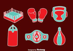 Hand Drawn Boxing Element Vectors