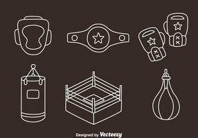 Boxing Element Line Vectors