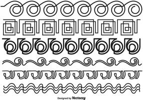 Abstrakt linje stil gränser - vektor