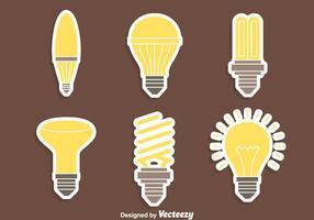 Niza vectores de lámpara ligeros