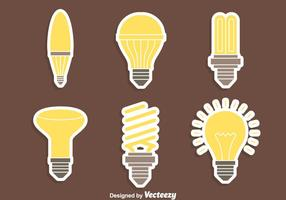 Bei vettori di lampade leggere