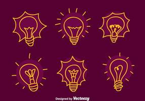 Ampoule Sketch lumière Vecteurs