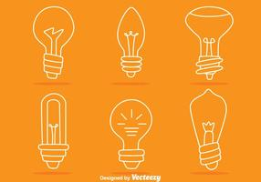 Light Bulb Line Vectors