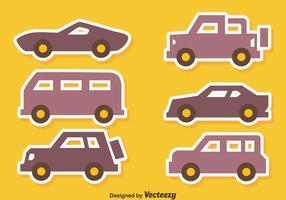 Mooie auto Icons Vectors