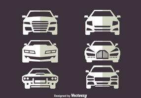 Vista de frente vectores de coches