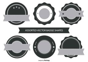 Retro Badge Shape Collection vecteur