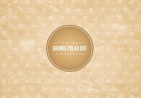 Grunge Polka-Punkt-Hintergrund vektor