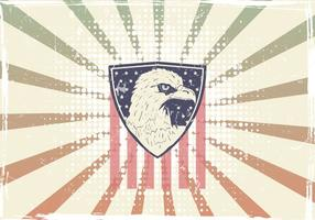 American Eagle Seal With American Flag vector