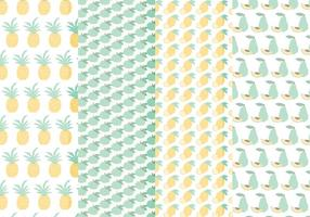 Patterns Vector de frutas Hand Drawn