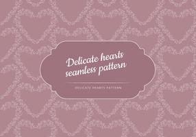 Vector Seamless Patter av en delikat hjärta