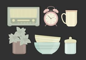 Vector Illustration of Vintage Objects