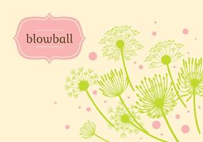 Blowball Hintergrund Illustration Vektor