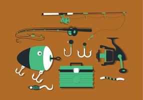 Strumenti di pesca Set Vector Pack