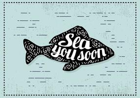 Free Hand Drawn Fish Background vector