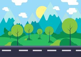 Ilustración del vector libre paisaje