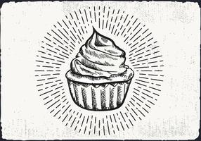 Free Hand Drawn Cupcake Background vector
