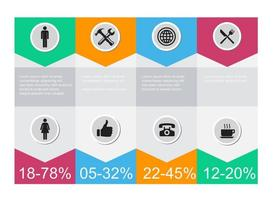 Gratis Vector Infographic Icons