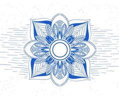 Mandala de flor de vetor grátis