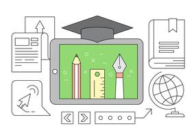 Gratis Online Education Linear Style Vector Elements