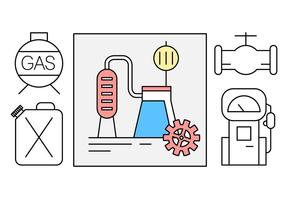 Gratis Olie-industrie Vector Icons