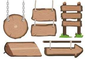 Holz-Blanko-Banner-Vektor-Zeichen