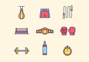 Free Boxing Icons vector