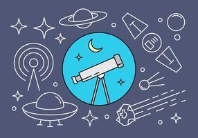 Livre lineares espaço ícones do vetor