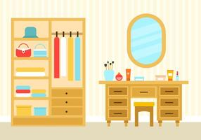 Free Bedroom Interior Vector