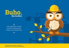 Buho Builder Karaktär Vektor