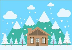 Free Winter Scenery Vector