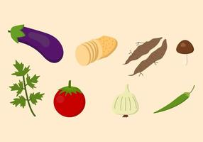 Flat Vegetable Vectors
