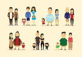 Familia Colección del vector