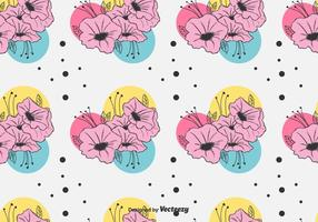 Colorful Petunia Motif Vector