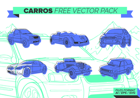 Indigo Carros gratuit Pack Vector