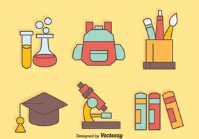 Mooi School Equipment Vectors