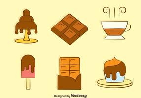 Sweet Chocolate Desert Vectors