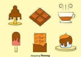 Vectores del desierto dulce de chocolate