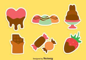Delicious Choclate Snack Vectors