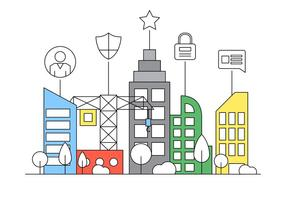 Free Smart City Flat Illustration