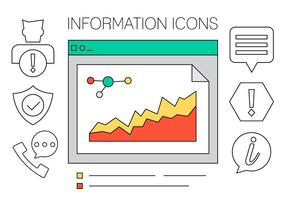 Informationen Icons Set in Vektor