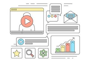 Icone di vettore di marketing online gratis