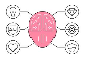 Free Illustration of Brainstorming and Ideas Icons