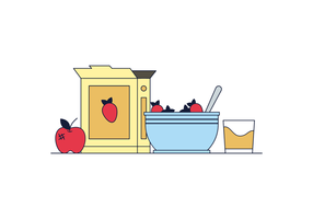 Free Healthy Breakfast Vector