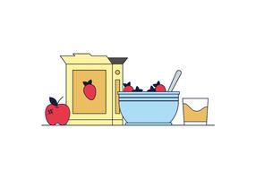 Hälsosam frukost Vector
