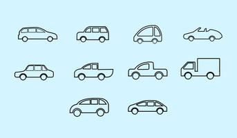 Gratis auto pictogram vector