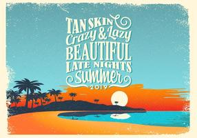 Beach Night Vector