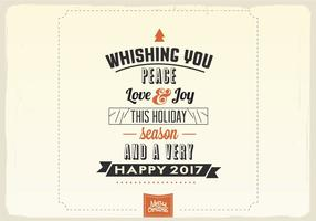 Wishing You Peace, Love & Joy Vector